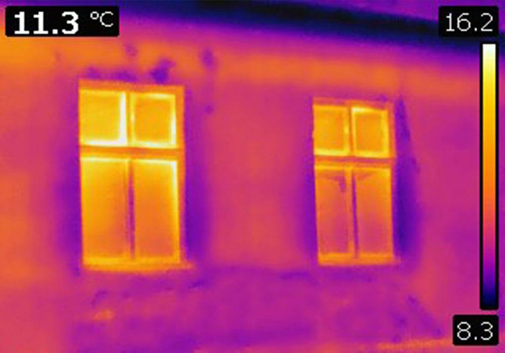 termografi av hus