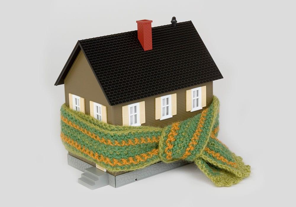 hus med skjerf